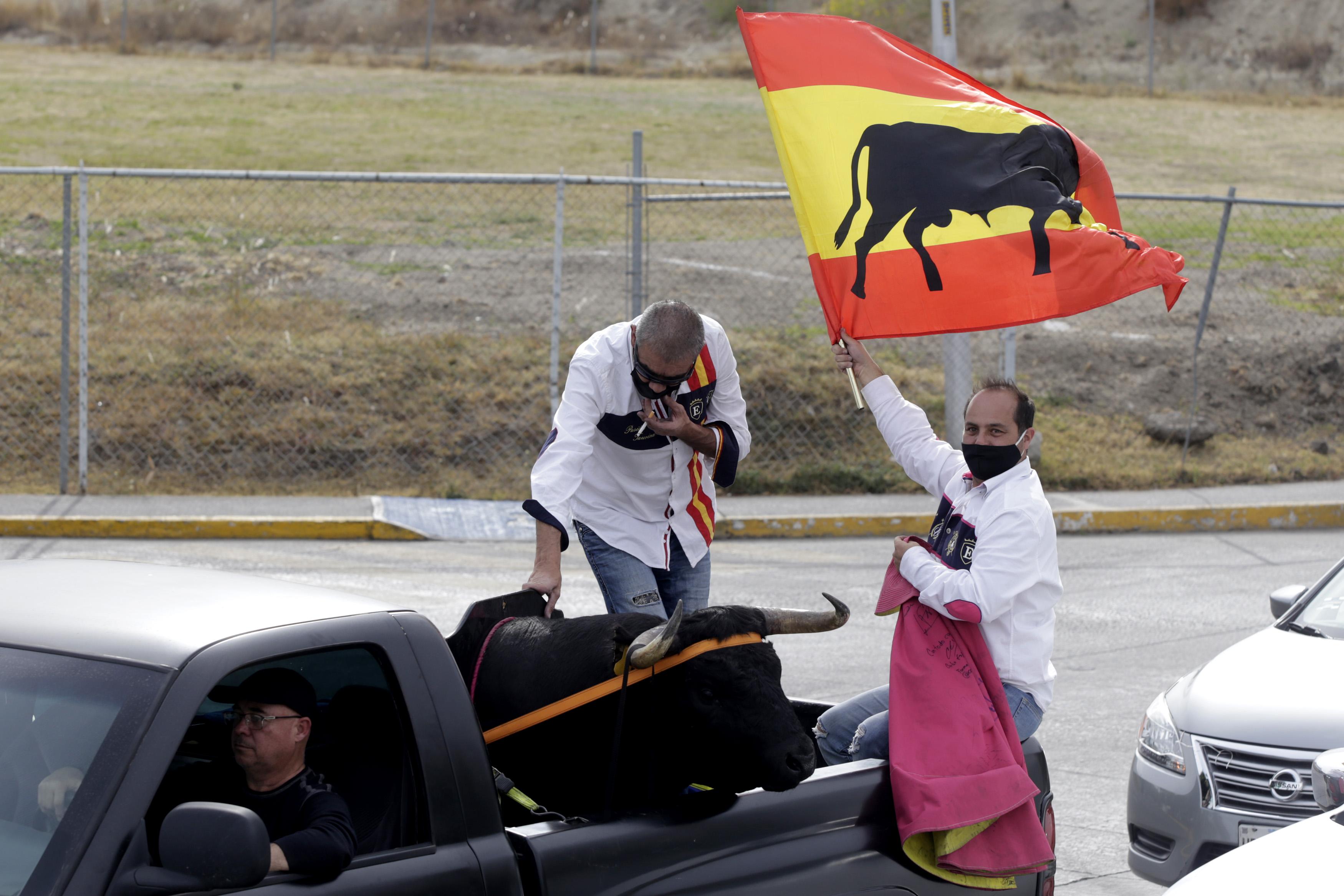 Puebla es taurina: con caravana defienden la fiesta brava