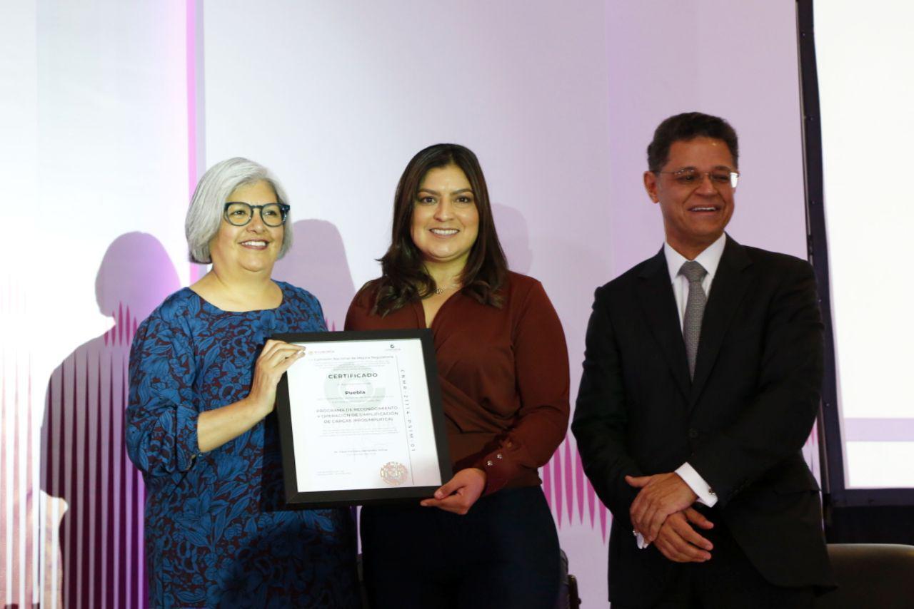 Puebla, primer municipio en obtener el certificado PROSIMPLIFICA