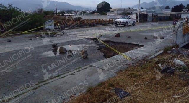 A punto de colapsar puente en Libres