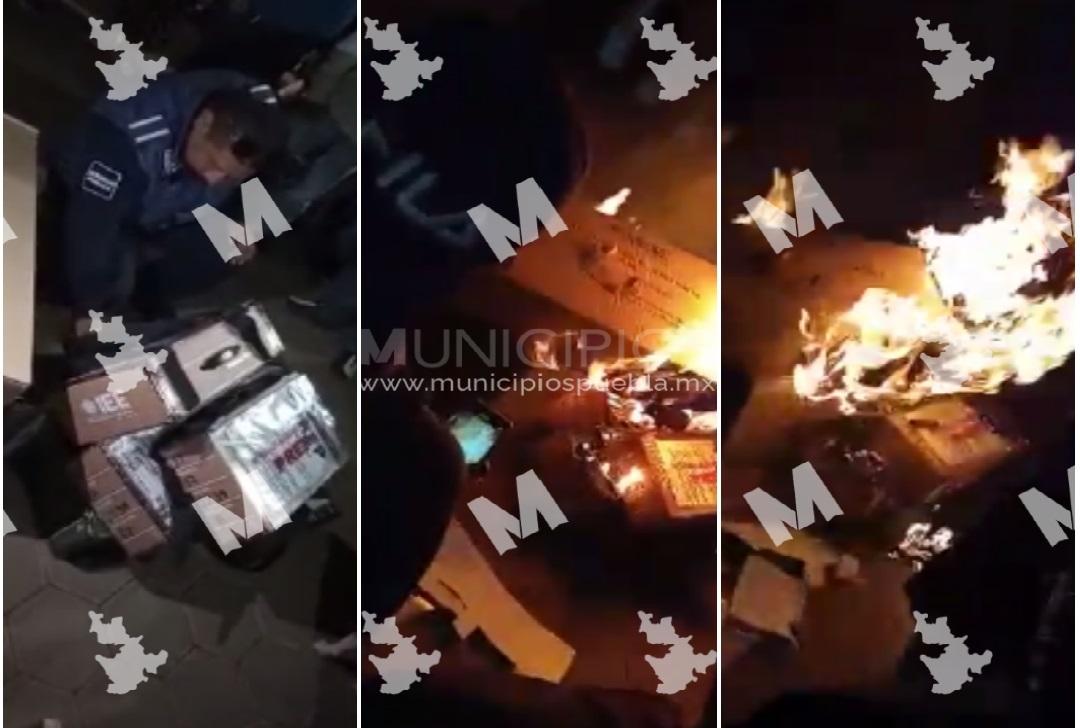 Presentará Barbosa denuncias penales contra inconformes que quemaron urnas