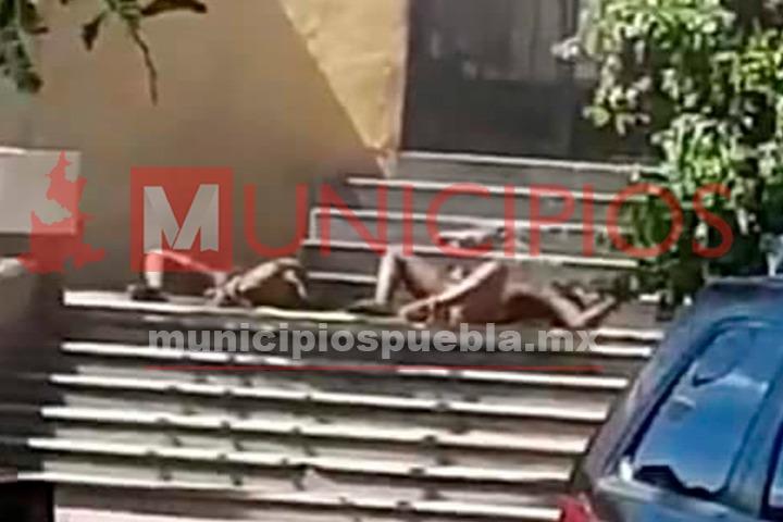 VIDEO: Los queman vivos por intentar robar a menores en Acatlán