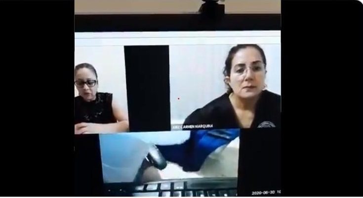 VIDEO Abogado sale en audiencia sin pantalones y se hace viral