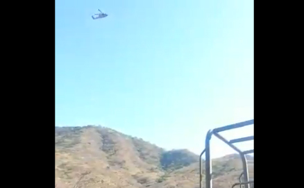 VIDEO Así rafaguea helicóptero del Ejército a integrantes del CJNG