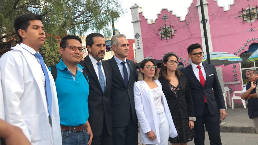 Se reúnen rectores de la BUAP y UPAEP con Miguel Barbosa