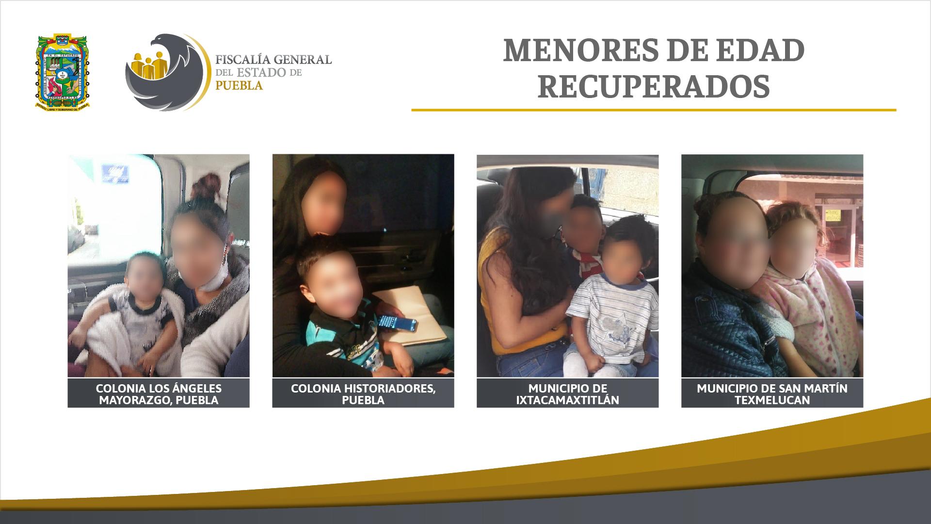 Fiscalía de Puebla entrega a sus madres niños sustraídos por familiares