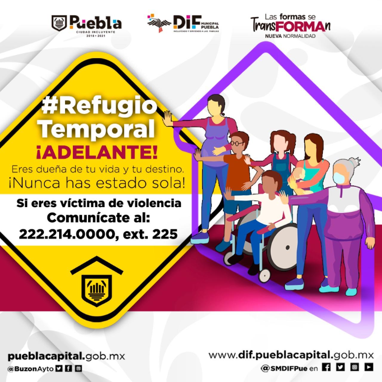 Ayuntamiento de Puebla da refugio temporal a mujeres violentadas