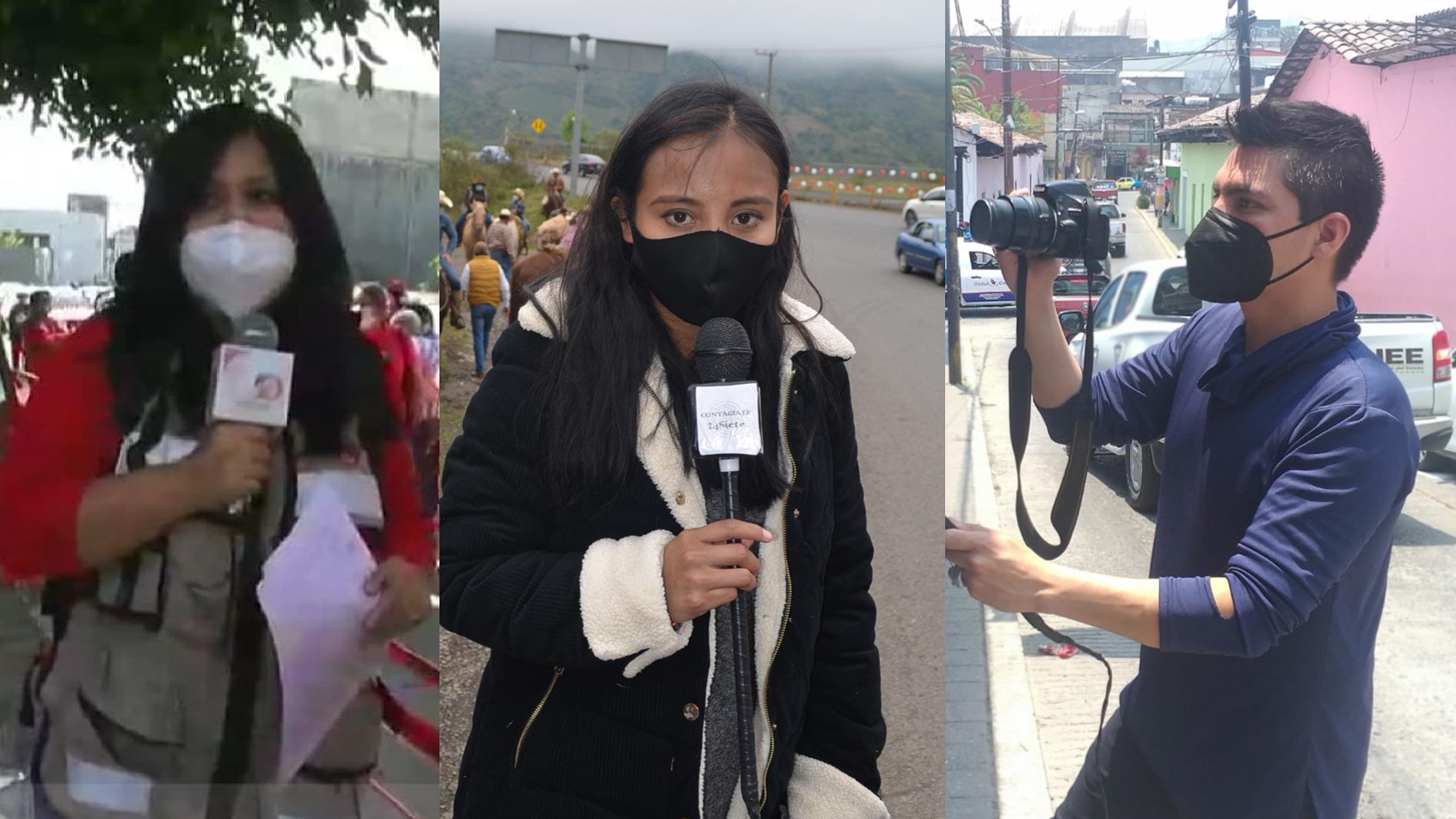 Familia agrede a reporteros al cubrir escena de un crimen en Huauchinango