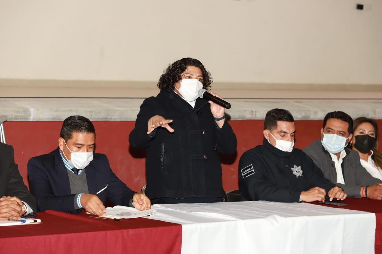 Preside Karina Pérez asamblea para conformar delegación en la Reserva Territorial