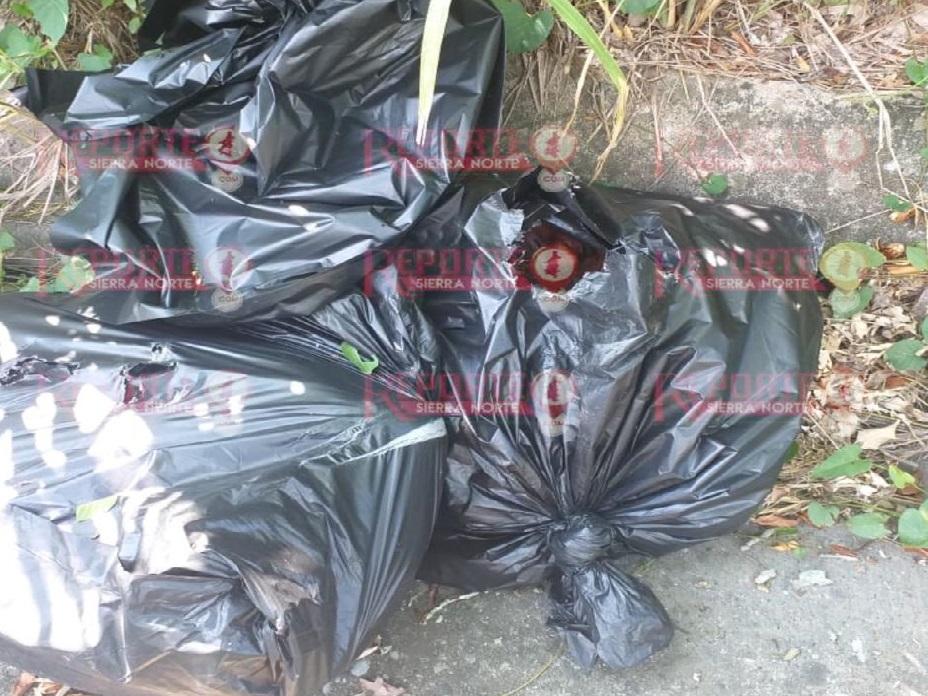 Encuentran restos humanos en bolsas en Venustiano Carranza