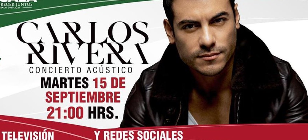VIDEO Carlos Rivera dará concierto acústico previo a Grito de Independencia