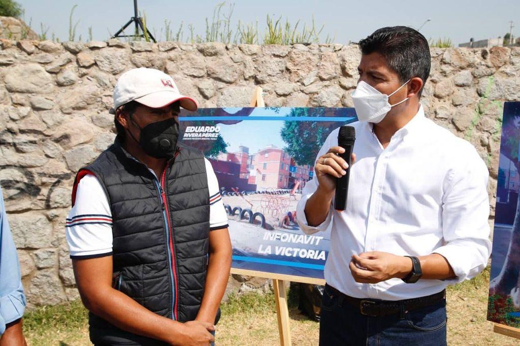 Propone Eduardo Rivera recuperar 150 espacios públicos abandonados