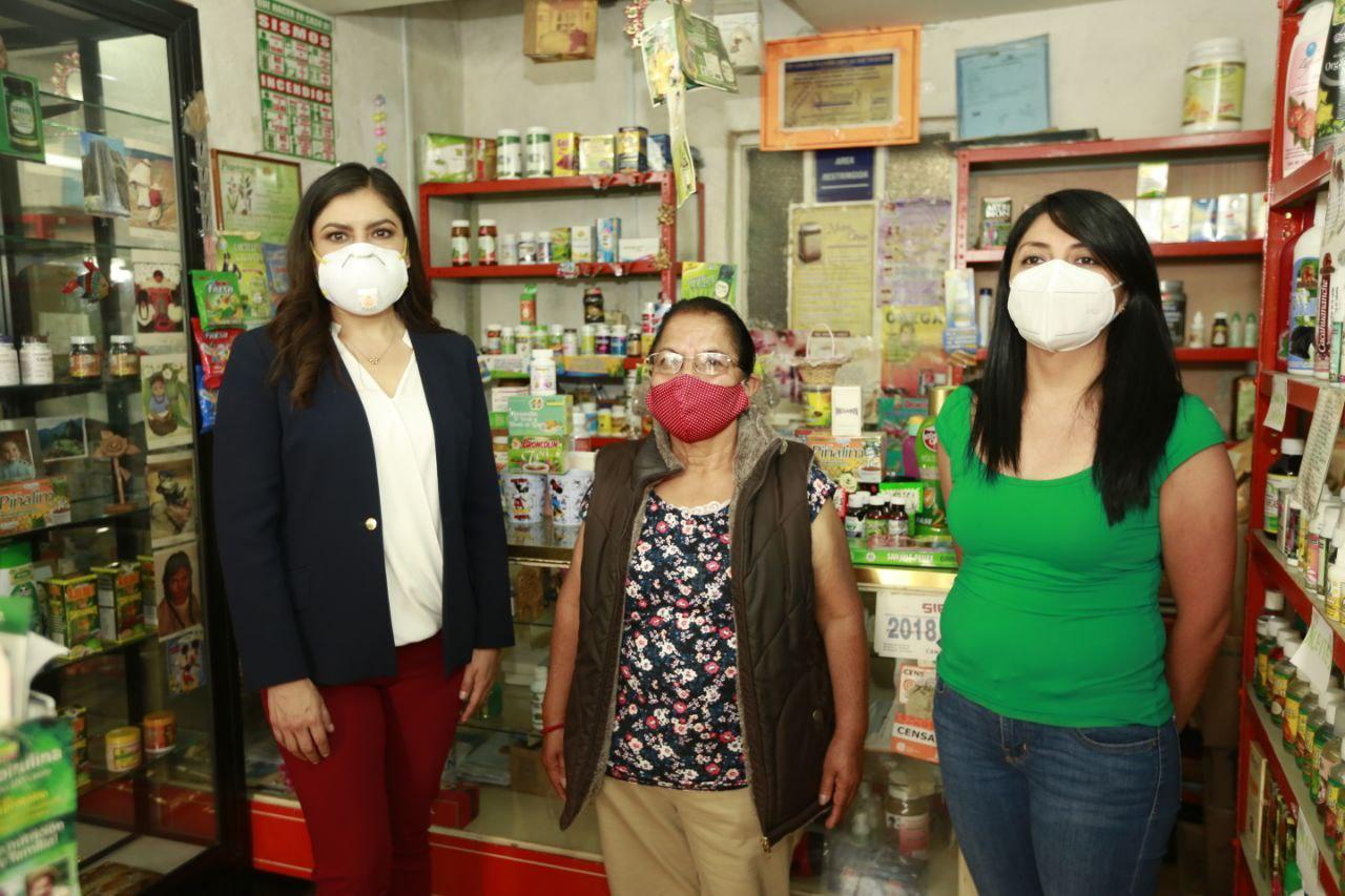 Impulsa Claudia Rivera reactivación económica de comercios del Centro Histórico