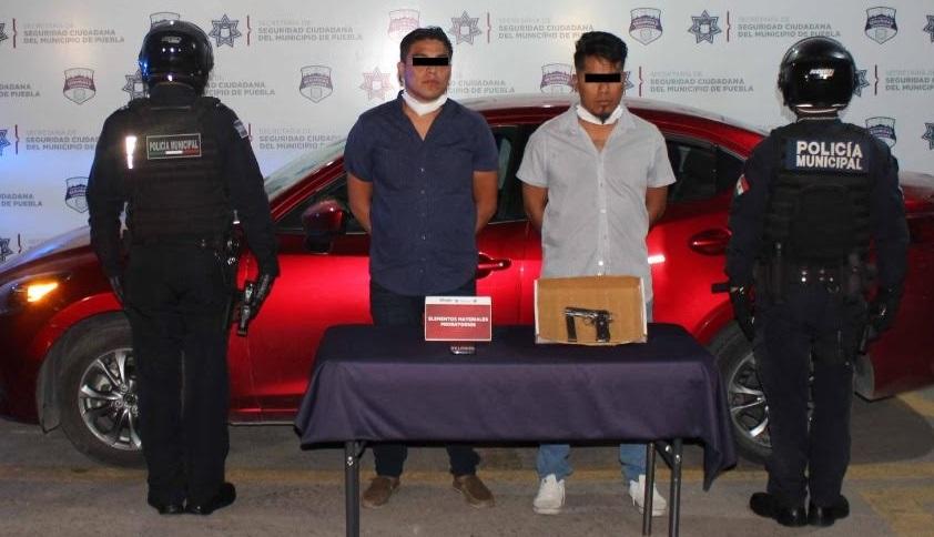 Los detienen en Puebla por robar a gasera de Cuautlancingo
