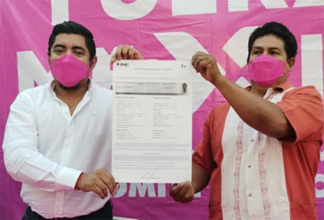 Rubero Suárez se registra como candidato a la alcaldía de Izúcar por Fuerza por México