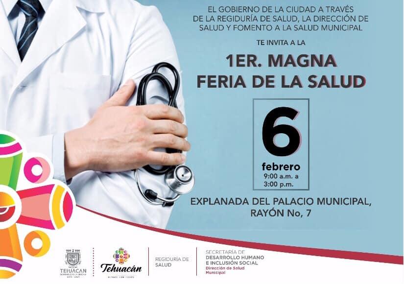 Ofrecerán servicios médicos gratis en Feria de la salud en Tehuacán