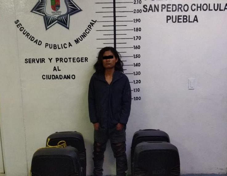 Aprovechó feria de San Pedro Cholula para robar iglesia
