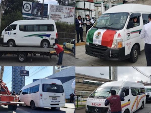 Sanciona SMT a 21 unidades de transporte público en la Sierra Norte de Puebla