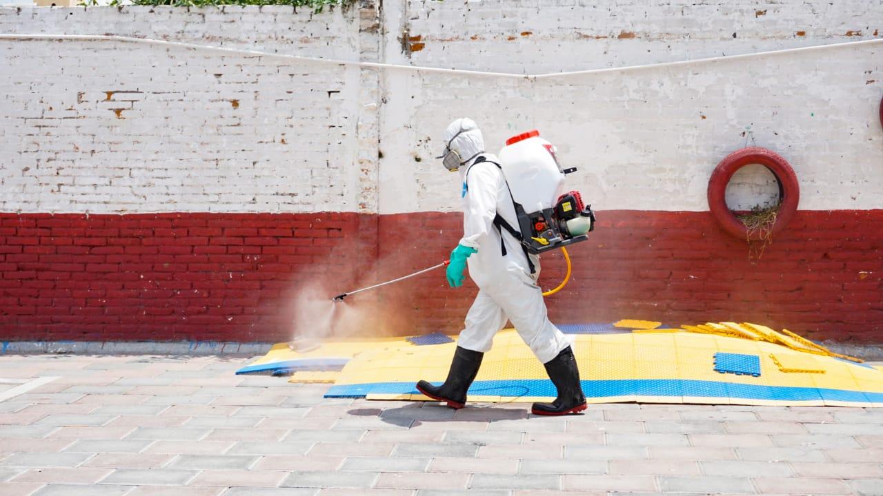Realiza San Andrés jornada de sanitización en San Rafael Comac