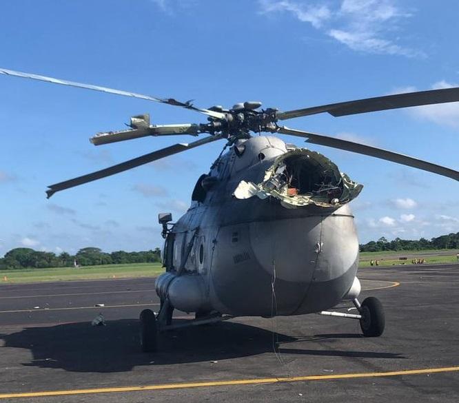 VIDEO Se desploma helicóptero de la Marina en Villahermosa