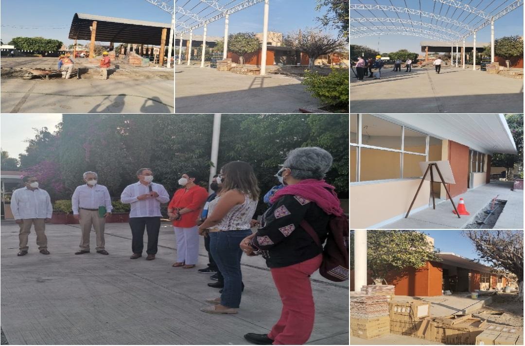 Melitón Lozano supervisa obras de SEP en su natal Izúcar
