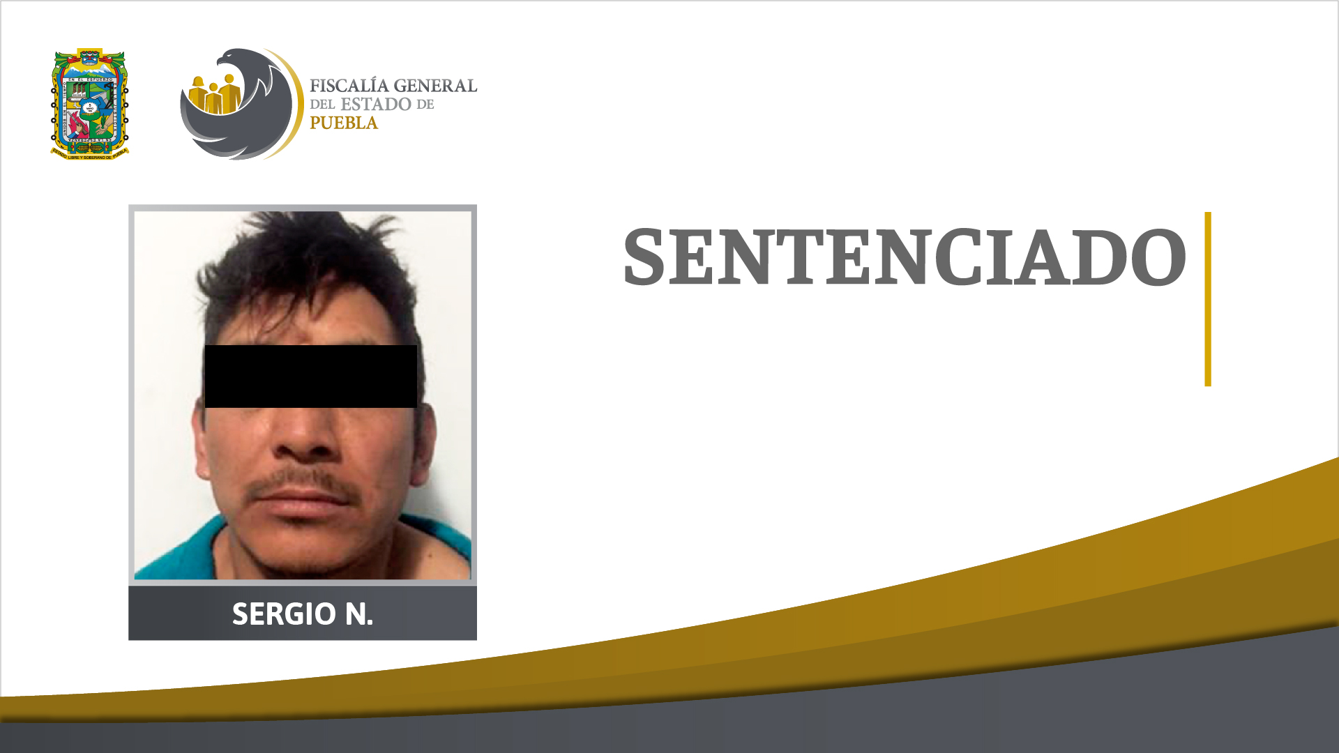 Por violar y matar a mujer en Texmelucan le dan 42 años de prisión a Sergio