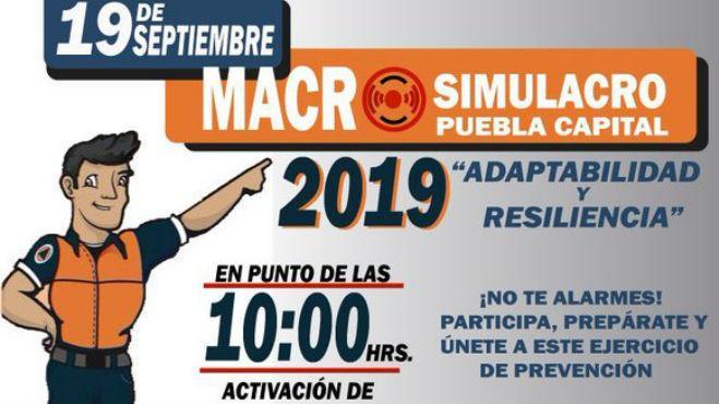 Preparan Macro Simulacro para este 19 de septiembre