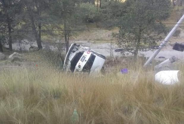 Fuerte accidente en la Amozoc-Teziutlán deja un lesionado