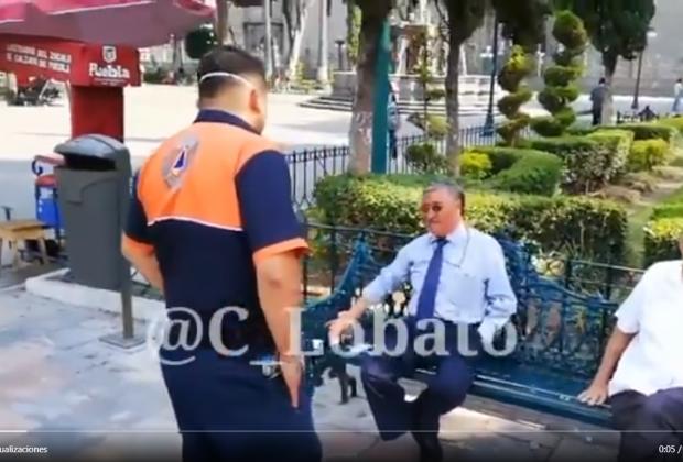 VIDEO El Covid no existe, si me muero, me muero, dicen poblanos
