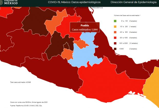 Reporta Federación 571 contagios de Covid19 en un día en Puebla