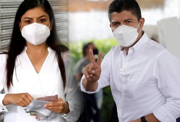 Acuerdan Claudia Rivera y Eduardo Rivera iniciar mesas para la transición