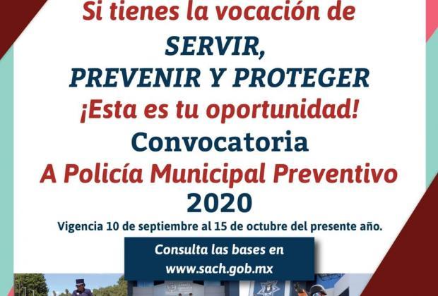 SSPTM de San Andrés Cholula lanza convocatoria para sumar más elementos