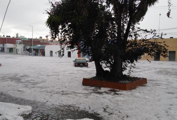 VIDEO Puebla, bajo el agua y el granizo este domingo