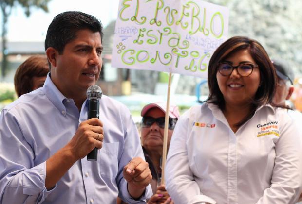 Yo no estoy en contienda, responde Eduardo Rivera a líder estatal del PAN