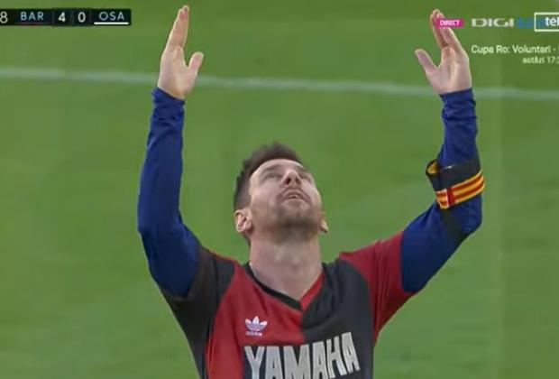 VIDEO Messi anota y rinde homenaje a Maradona