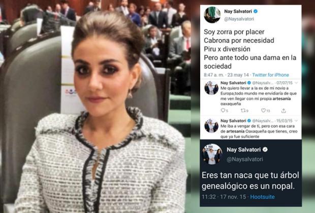 Nay Salvatori es tendencia por tweets racistas y misoginos