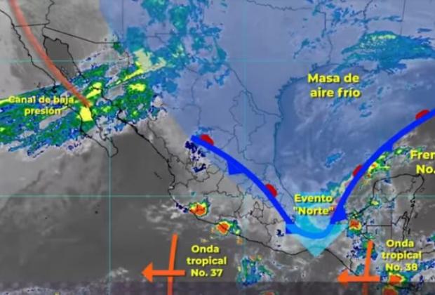 Lluvias intensas en Chiapas, Tabasco y Veracruz: Conagua