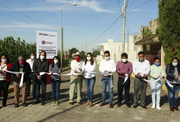 Claudia Rivera rehabilita 1.7 kilómetros de vialidades en Xonacatepec