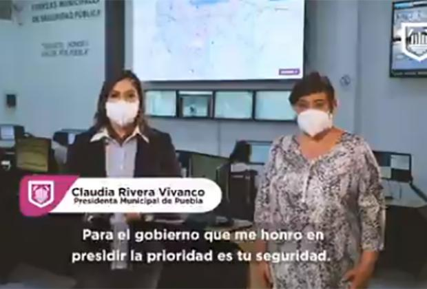 Disminuye 60% incidencia delictiva en la capital poblana: Claudia Rivera