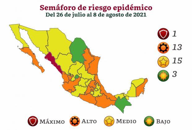 Regresa Puebla a semáforo amarillo; rebasa los mil 300 casos activos de Covid