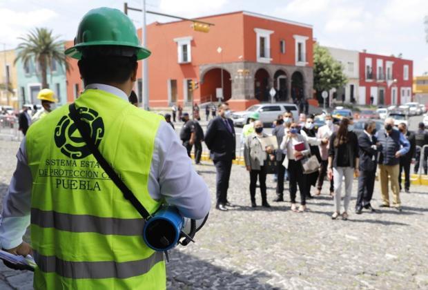 Así fue el Macro Simulacro en Puebla