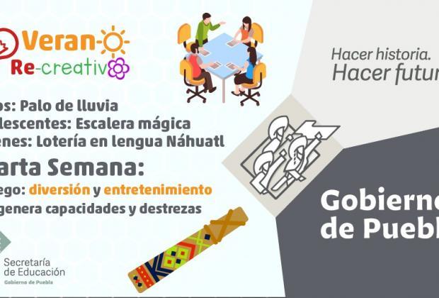 Más de 15 mil niños visitan la página Verano Re-creativo de la SEP Puebla