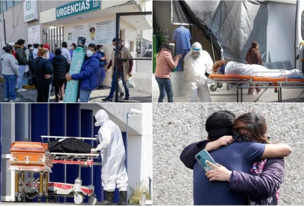 Año y medio de pandemia en Puebla: 114 mil contagios y más de 14 mil muertos