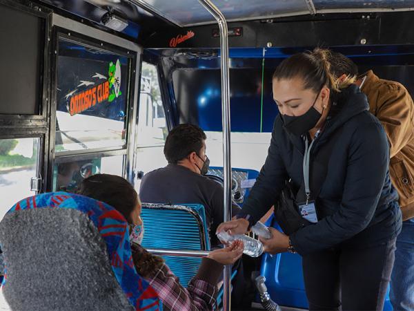 Supervisa SMT 238 unidades de transporte público de la capital poblana