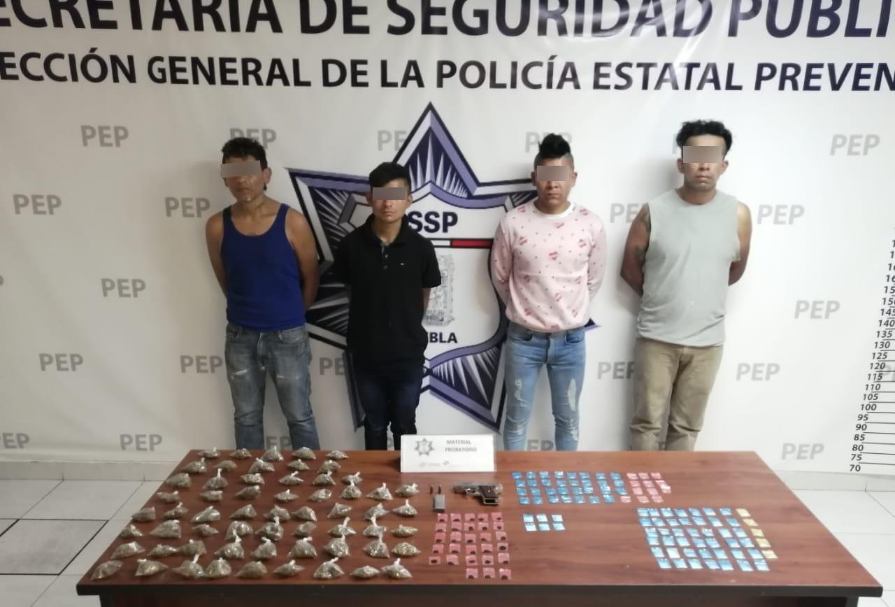 Aprehenden a narcovendedores de El Pelón del Sur con 200 dosis de droga en Puebla