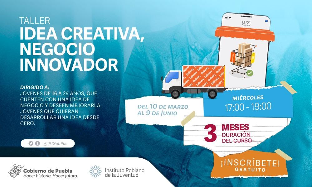 Emite IPJ de Puebla convocatoria para taller de emprendedores