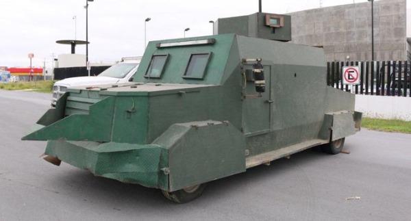 Decomisan en Tamaulipas vehículos con blindaje artesanal y armamento