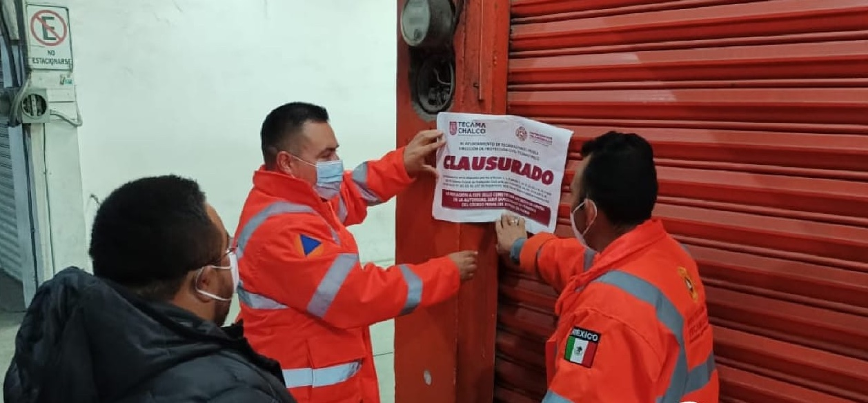 Clausuran 5 taquerías en Tecamachalco por incumplir decreto