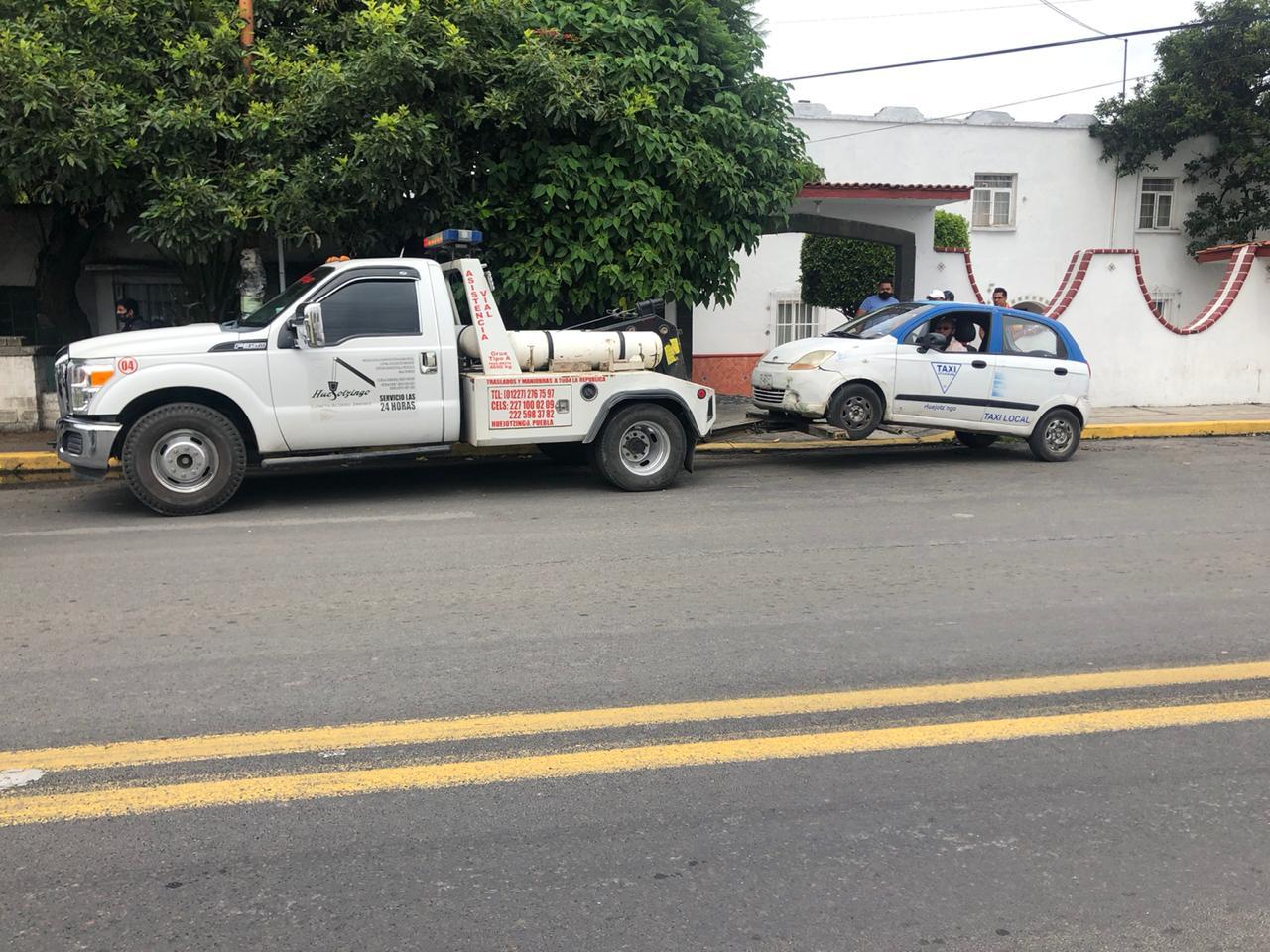 En operativo en Huejotzingo decomisan taxis y mototaxis