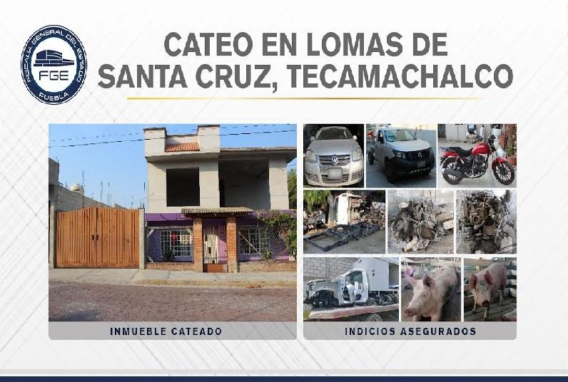 En Tecamachalco aseguran vehículos y autopartes robadas