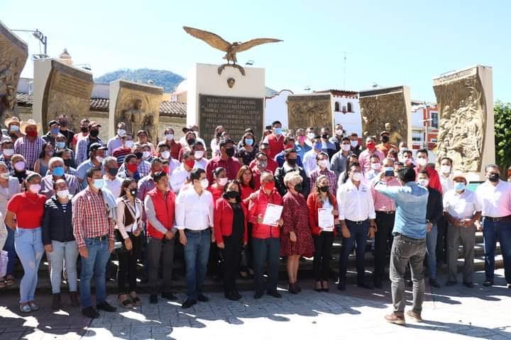 El PRI hace política en Tetela de Ocampo sin sana distancia